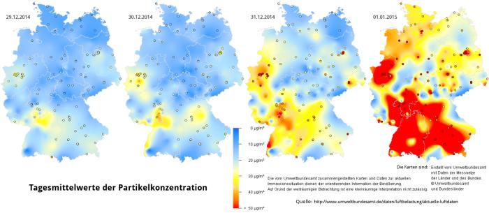 Feinstaub in Deutschland, Silvester 2014_2015